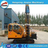 screw pile machine maturity function crawler spiral drilling pile driver