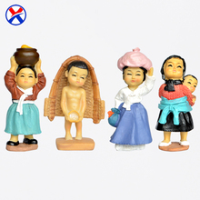 Custom resin korean girl and boy figurine souvenir craft