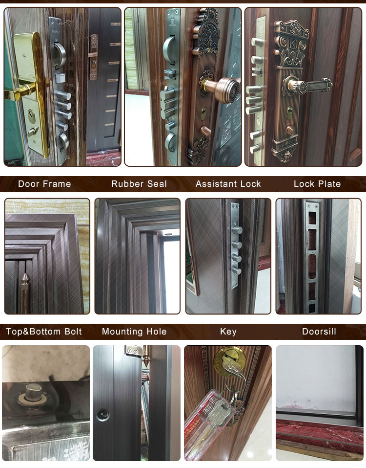 New style modern stainless steel door design