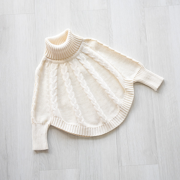 2016 kids winter clothes Europe Hot Autumn baby sweater design girls' cotton knit twist wool cape sweater