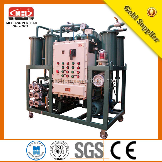 CQ MEIHENG Vacuum Lubrication Oil Purifier Equipped With Strong Filter System(DYJ series)/ transformer oil purifier