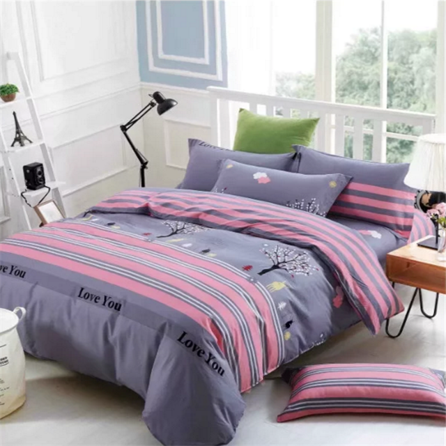 Cheap price brushed twin size bedding set