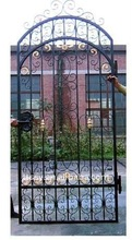 Wrought cast oriental iron gate