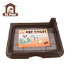 Durable plastic material and easy to clean indoor pet dog toilet for male dog