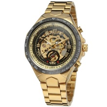 Winner Automatic Watch Mechanical Stainless Steel Material Gold Automatic Mechanical Watch Men Wrist WristWatches