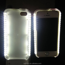2016 Best Selling Mobile Phone Selfie Light up case for iphone 6 6s 6plus