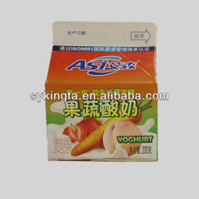 KT Aseptic juice and milk Gable top cartons