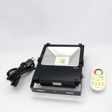 50w smart intelligent 2.4g rf rgb rgbww+cw led flood lights 4 zone remote control multi coloured outdoor led flood lights ip65