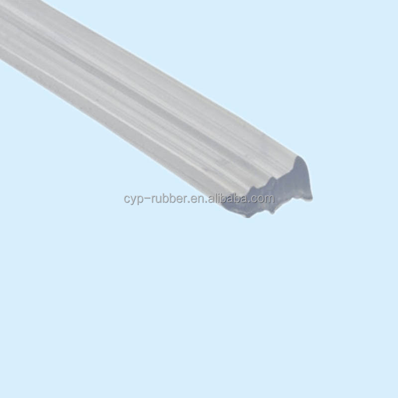 PVC wooden door glass strips rubber seals