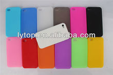 plain Rubber silicone phone case for iphone 4, silicone soft back case for iphone 4
