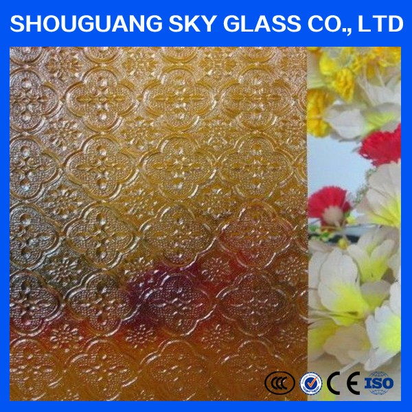 5mm bronze and clear Nashiji/Malu Patterned art Glass for decoration