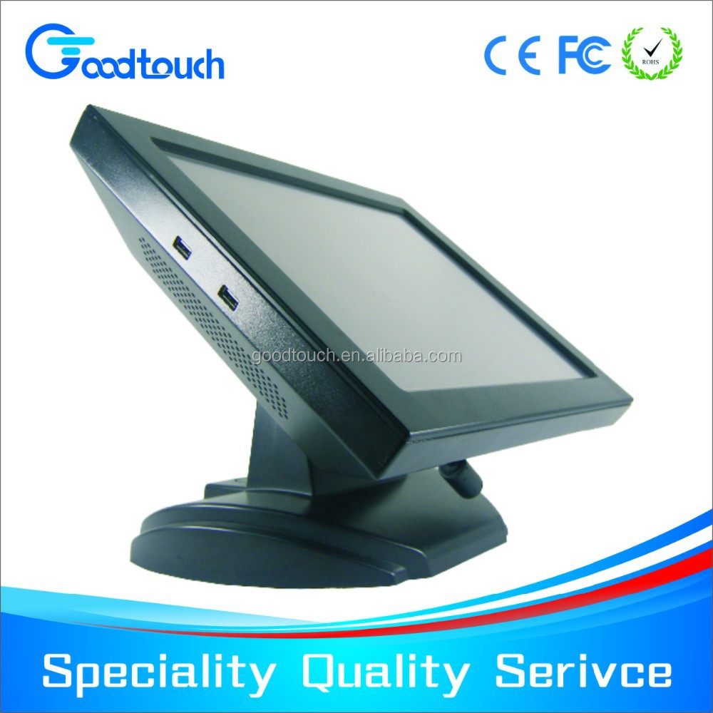 certificated 15 inch all in one touch screen restaurant menu, touch POS system, touch computer