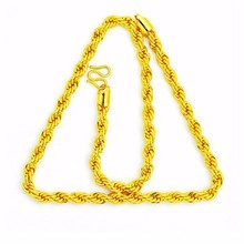 Wholesale fashion plating 916 gold necklace designs in 3 grams