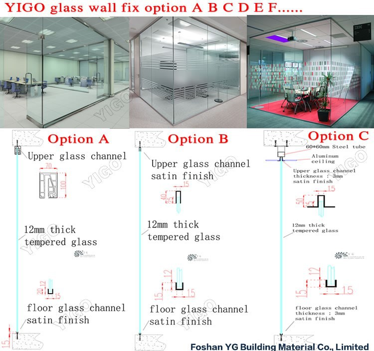 Interior Glass Wall Prices Frameless Glass Curtain Wall
