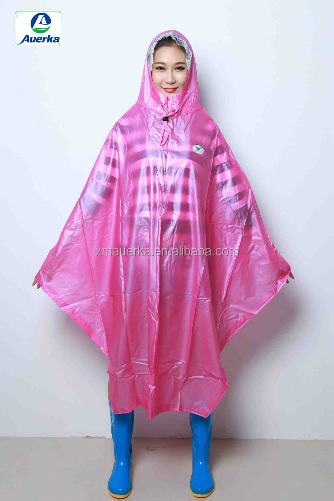 XM Style 250T Polyester PVC Motorcycle Scooter Bicycle long Rain poncho wholesale & OEM service