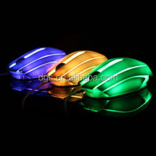 New Fashion Model High Quality Wholesale Price Computer Accessories LED Light 3D Wired Optical Gaming Mouse