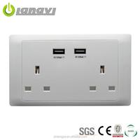 2015 High Quality Best Price UK 2 Ports Usb Socket,USB Switch,Wall Socket