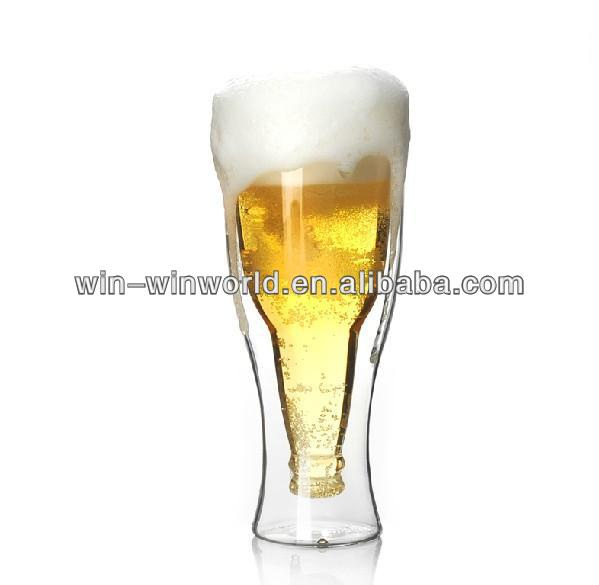 World Cup Novelty Double Wall Beer Glass Cup Wholesale