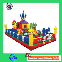good quality 0.55 PVC Inflatable Giant Jumping Castle Inflatable Fun City For Kids