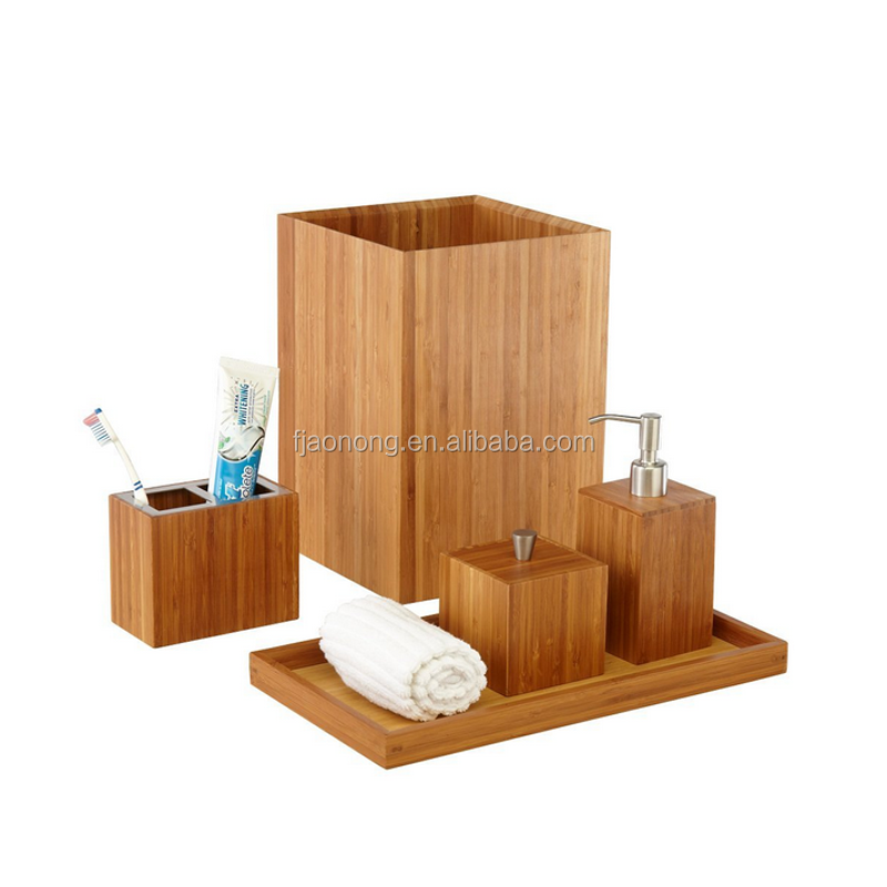 Best price superior quality bamboo bathroom home accessories