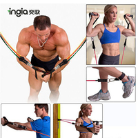 11 In 1 Abs Latex Exercise Tube Pull Rope Fitness Resistance Band