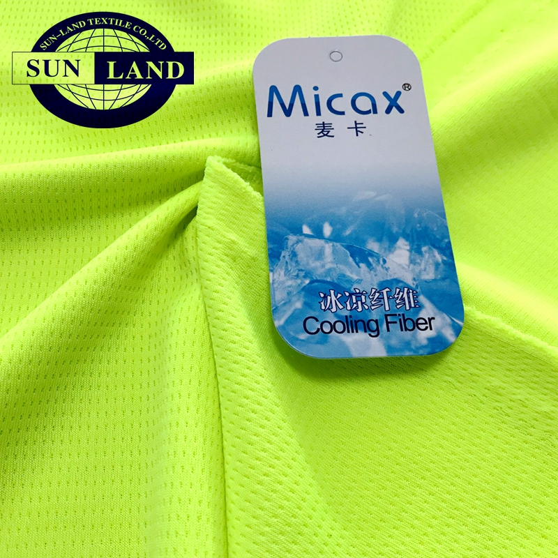 special bird eye dry-fit yarn micax moisture wicking cooling sportswear fabric