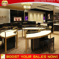 Hot sale jewelry display case and wood display cabinet for jewellery shop counter design