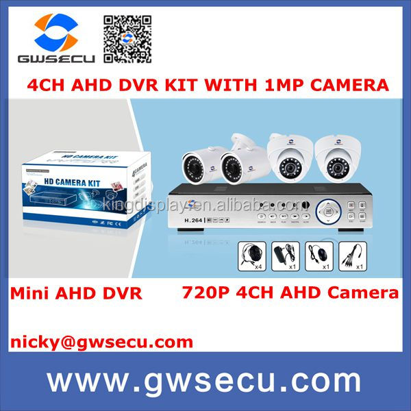 gwsecu Security CCTV 720P 4CH AHD Day Night IR Camera Kit High Definition Video Surveillance AHD DVR CCTV System