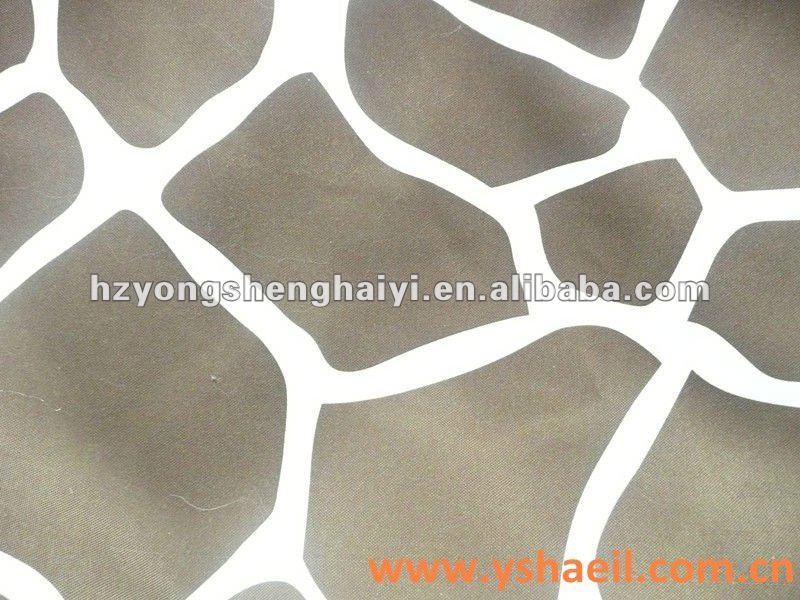 100% Polyester PU Coated Deer Print Fabric