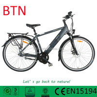 Cheap Electric e- bike for sale with 250W brushless mid drive motor