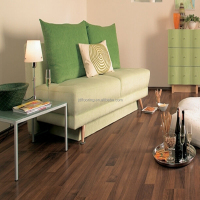 distressed walnut wood two strips embossment finish laminated wooden flooring