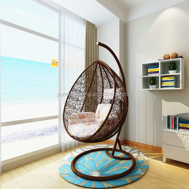 High Quality Rattan Bird Nest Balcony Adult Cheap Outdoor Indoor Wicker Cocoon Hanging Swing Egg Chair