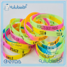 trendy accessories for 2017 and hot sale of silicone bracelet printer