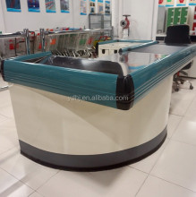 General Design Supermarket Checkout Used Cash Counter With Conveyor Belt For Shop