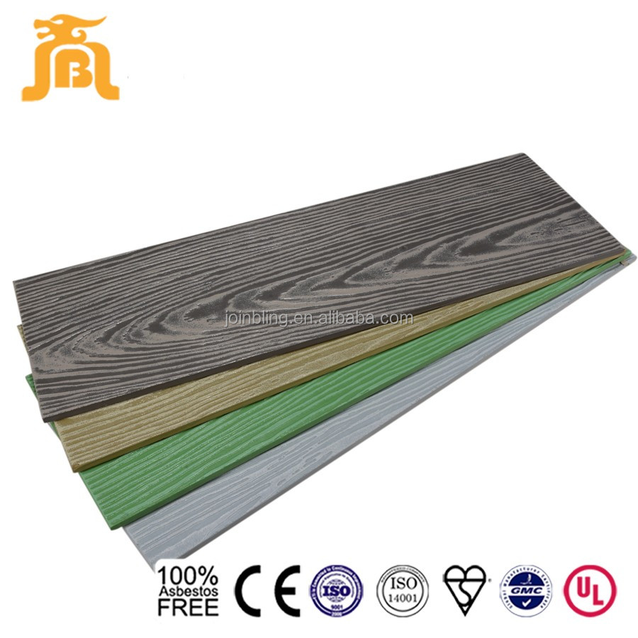 CE arrpoved wood grain exterior cement board lap siding