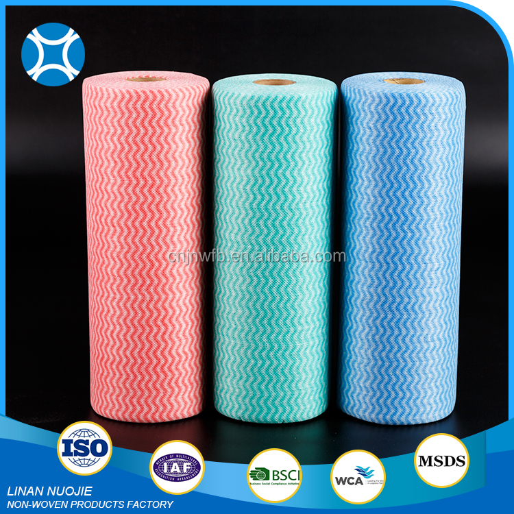 Cleaning Industry Wipe Roll Polyester Spunbond Nonwoven Fabric