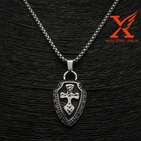 European and American Style Fashion Domineering Cross the Shield Pendant