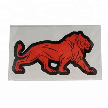 Custom logo oem beauty die cut lion vinyl sticker