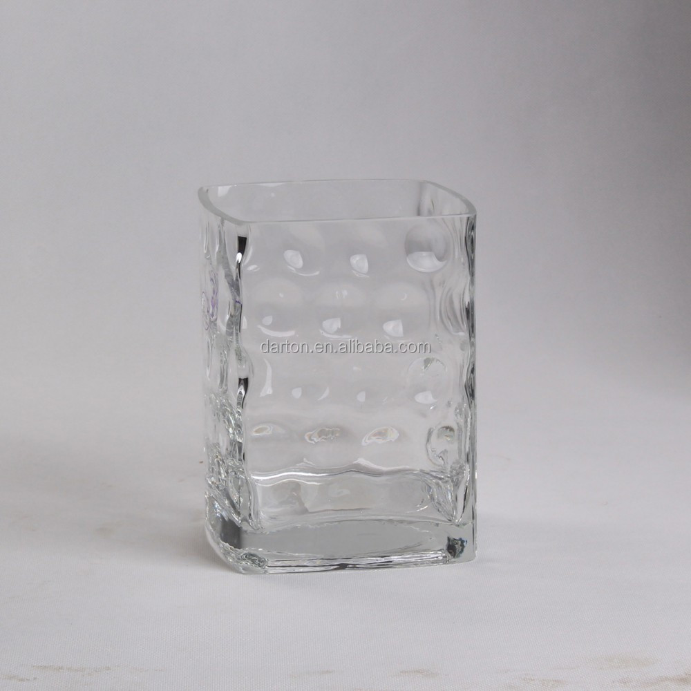GLASS FLOWER VASE WITH DOTS PATTERN D1-75355