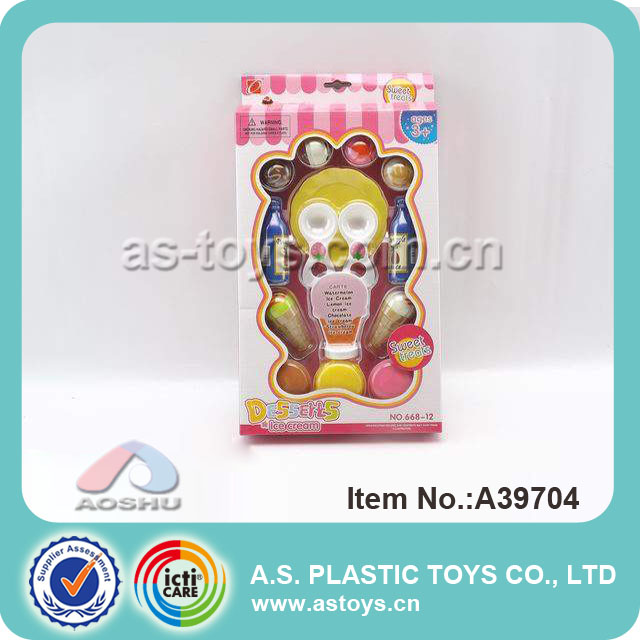 Sweet ice cream mini kitchen play set toy