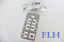 universal 3 pin 6 gang multiple electric switch and desk socket
