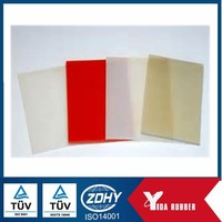 Customized silicone rubber sheet, thin square rubber pad with heat and water proof
