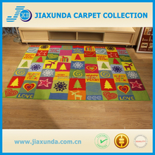 New Design printed pattern machine washable kid carpet