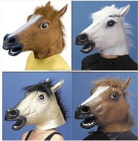 new party mask latex horse mask halloween mask