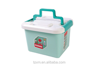 Dual layer and multi compartment travel medical storage box with tote