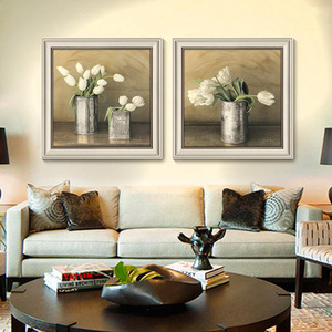 American pastoral village flowers canvas print home decor framed canvas art canvas painting
