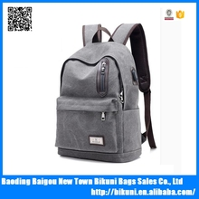 Nice new design high quality nylon book school bag with USB hole