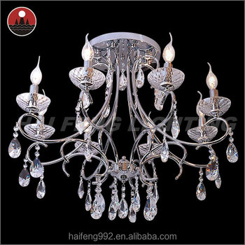 8 arms crystal chandelier