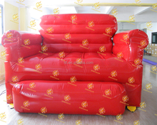 giant red inflatable sofa