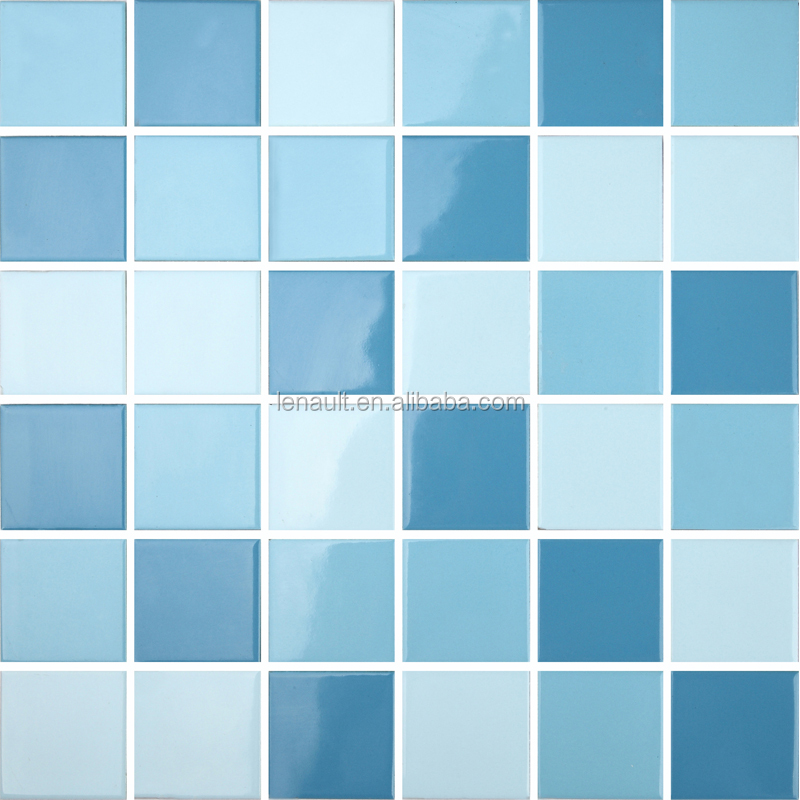 china blue swimming pool tiles